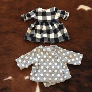Baby dress and jacket